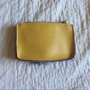 Macy's Bags - SOLD Rose Ruffle Coin Pouch Yellow